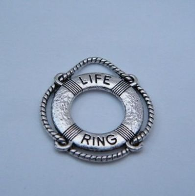 Nautical Life Ring Personalised Wine Glass Charm